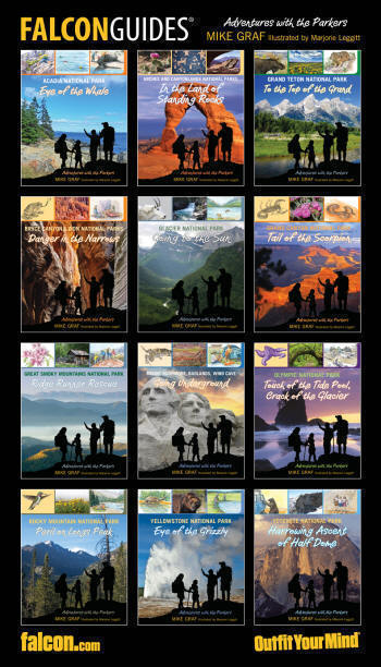 FalconGuides Poster of Adventure with the Parkers 12 Book Series